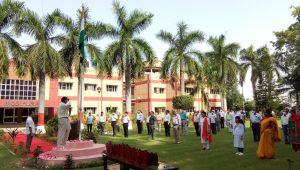 Flag Hoisting by Director IIFSR Dr. A.S. Panwar